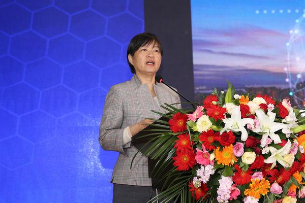 中国建筑业协会副会长吴慧娟做专题报告