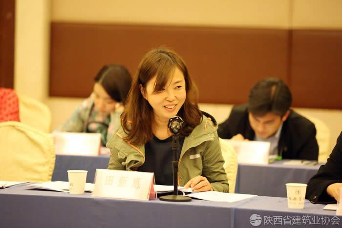 宝鸡市建筑业协会副秘书长田新惠发表讲话.jpg